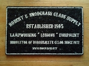 Limited Edition Mood Mat - R.E.S. Glass Supply Sign