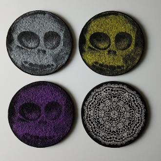 Skull Marble Coaster - 'Bob & Marie' Special Edition
